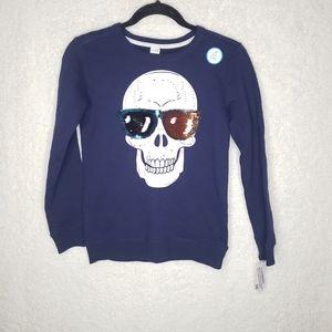 Carter's | Sequin Sunglasses Sweater sz 10-12